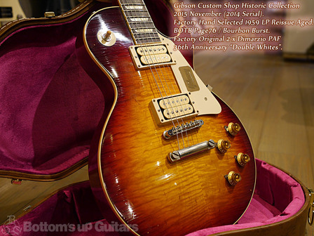 Gibson Custom Shop Historic Collection 1959 BOTB Aged Double Whites PAF ディマジオ ダブルホワイツ バーボンバースト