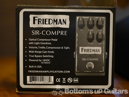 FRIEDMAN Amplifier 初のエフェクター BE-ODとSIR COMPREを試奏してみました!