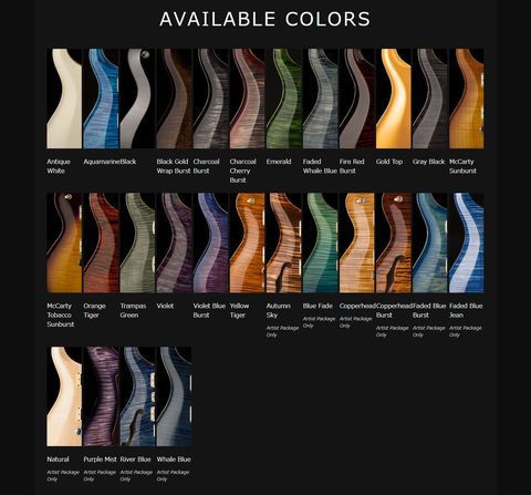 prs_35thcustom24_color / Bottom's Up Guitars anniversary models introduction